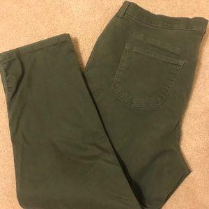 Women's Gloria Vanderbilt Military Green Jeans 20W